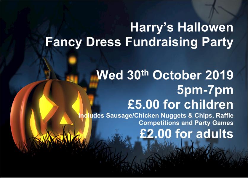 Harry's Halloween Fundraiser Party